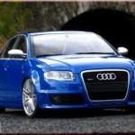 Audi bleu